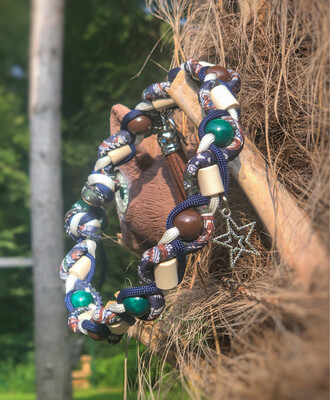EM- Keramikkette gegen Zecken für einen Halsumfang von ca. 34-40cm