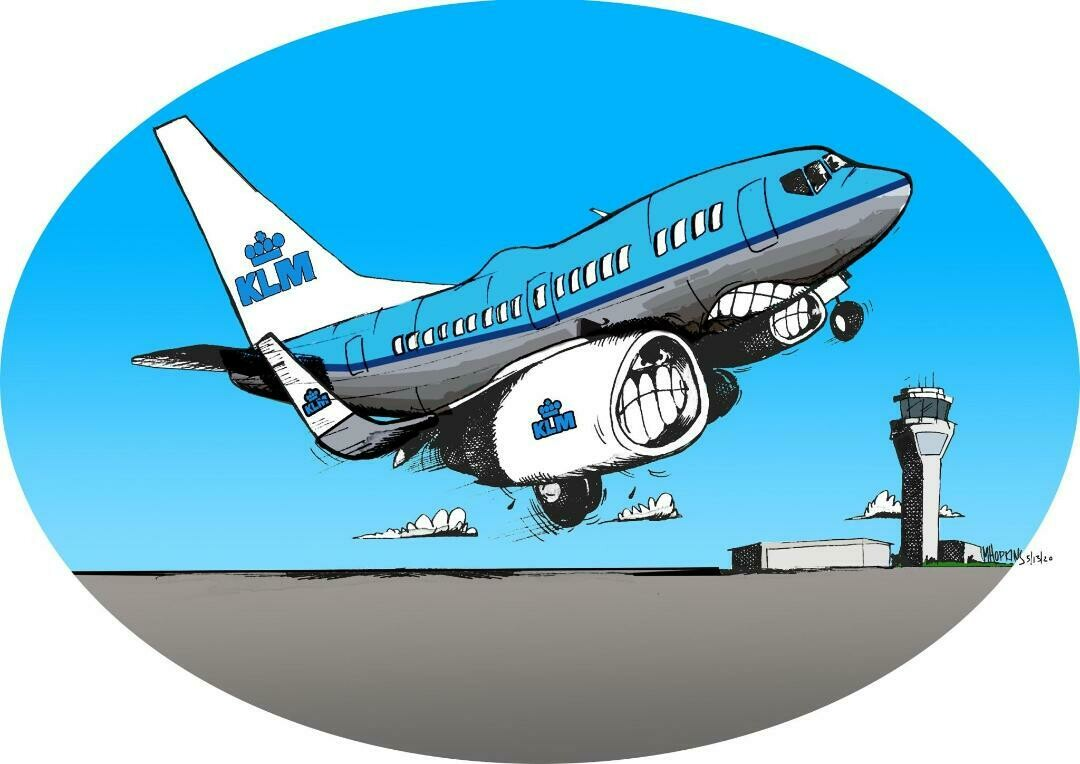 """KLM Boeing 737-700, 11"""" x 17"""", Limited Edition, Signed Print by Michael Hopkins"""
