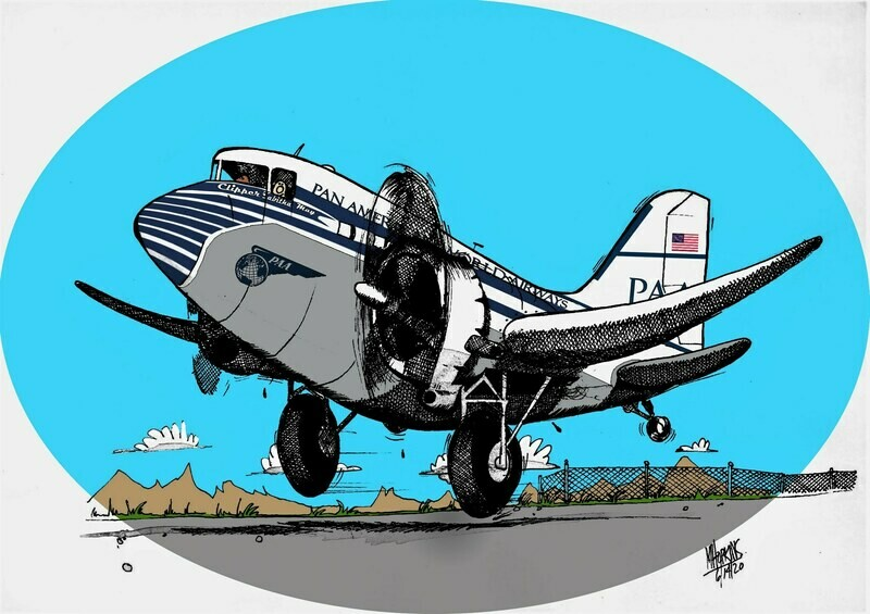 Pan Am DC-3  Limited Edition Print by Michael Hopkins