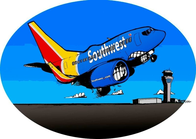 Southwest 737-700 Limited Edition Print by Michael Hopkins