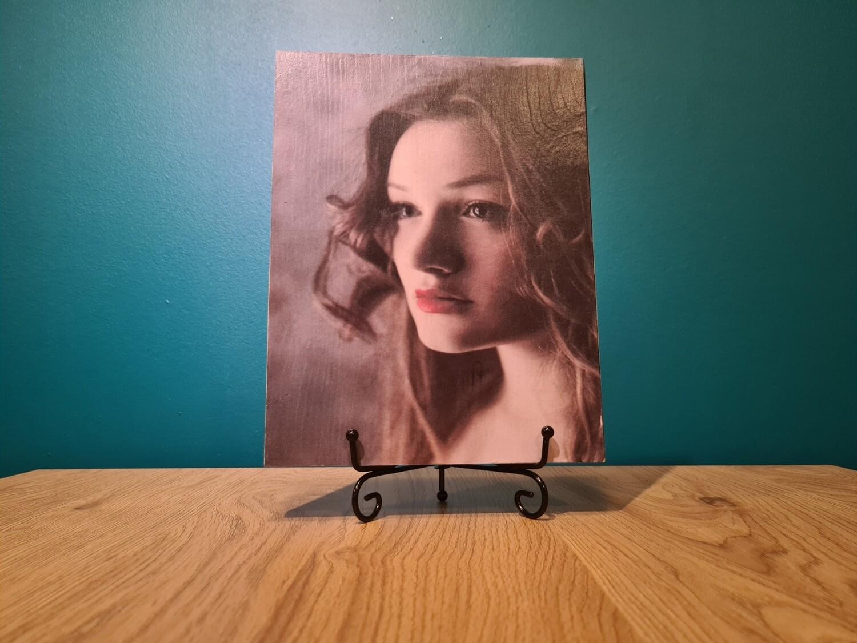 Print photo on wood