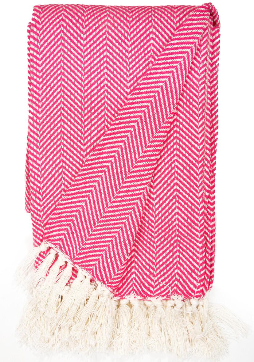 Cotton Blanket Bright Pink