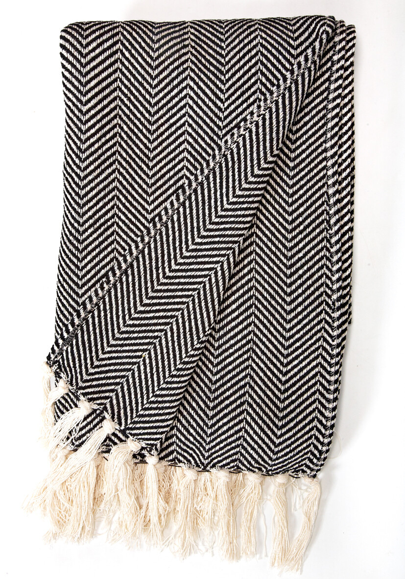 Cotton Blanket Black