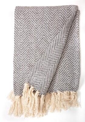 Cotton Blanket Dark Grey