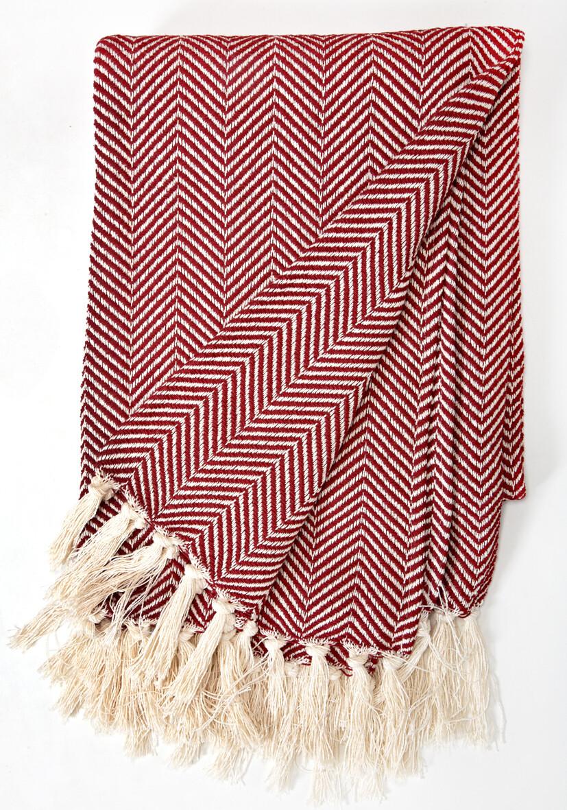 Cotton Blanket Dark Red