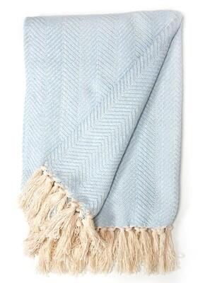 Cotton Blanket Light Blue
