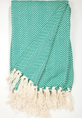 Cotton Blanket Green