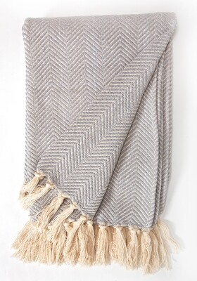 Cotton Blanket Light Grey