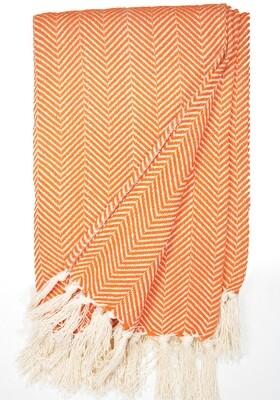 Cotton Blanket Orange