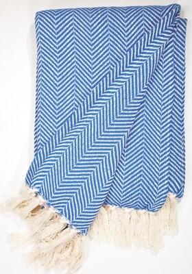 Cotton Blanket Sky Blue
