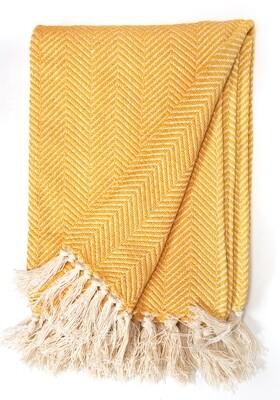 Cotton Blanket Yellow