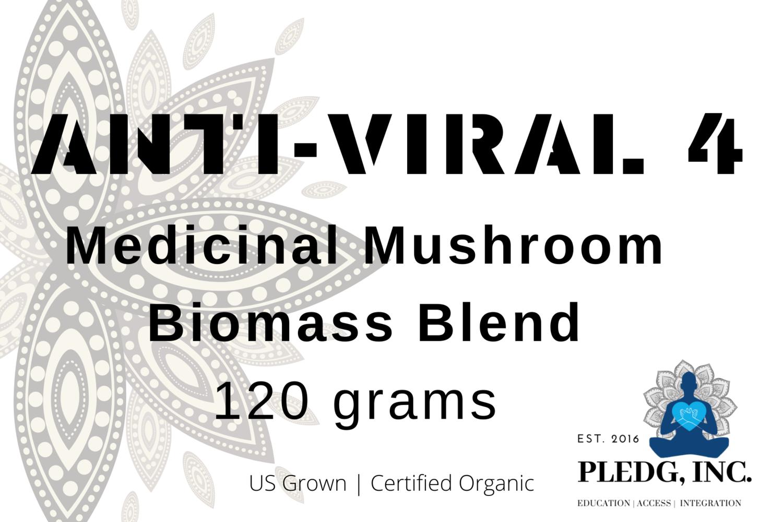 """Anti-Viral 4"" Medicinal Mushroom Biomass Blend"