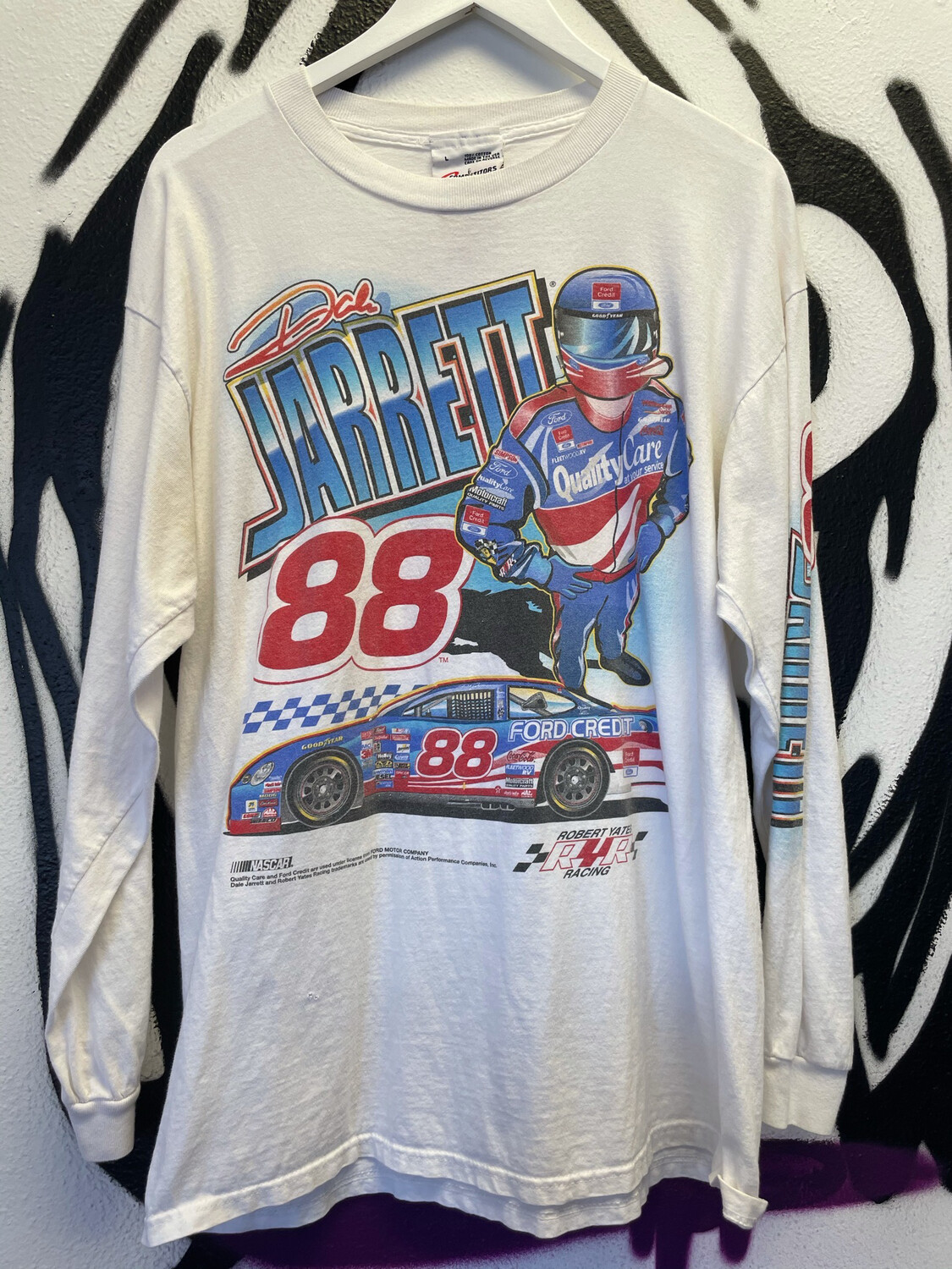 1990s Racing Long sleeve Size Large