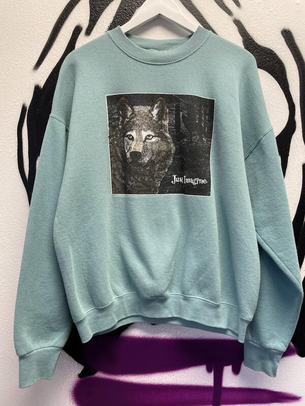 1990s Wolf Crewneck Size XL