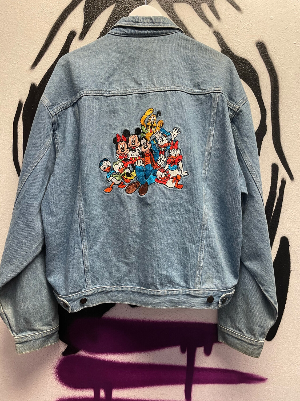 Embroidered Mickey Denim Jacket Size XL