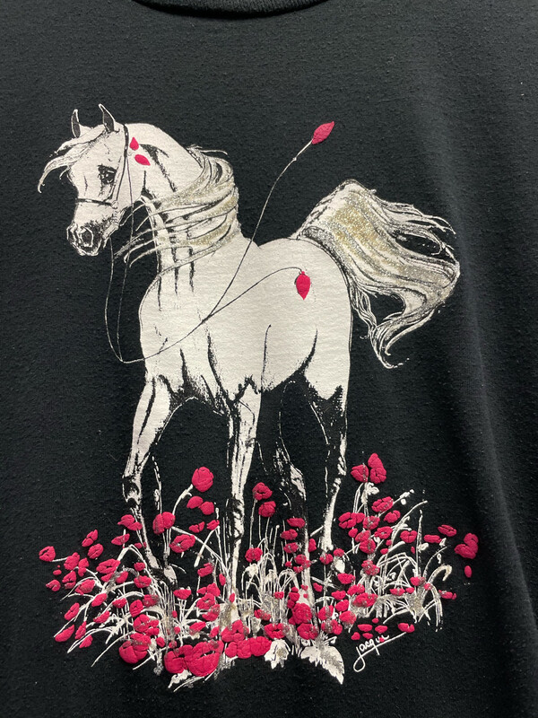 Vintage Horse On Roses Size Medium