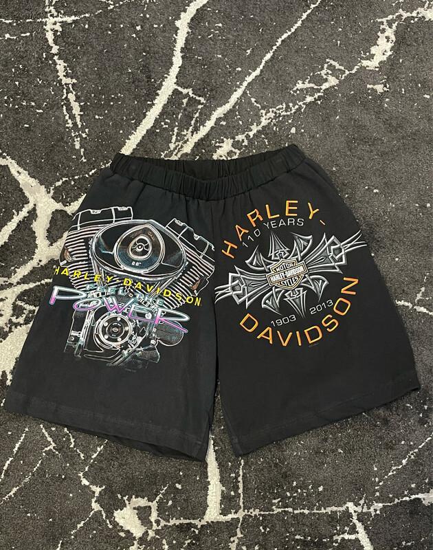 Custom Harley Davison Shorts Size Medium - XL