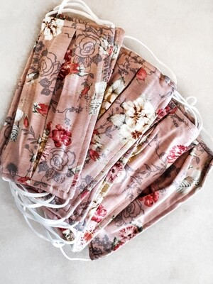 Pink floral mask WOMENS