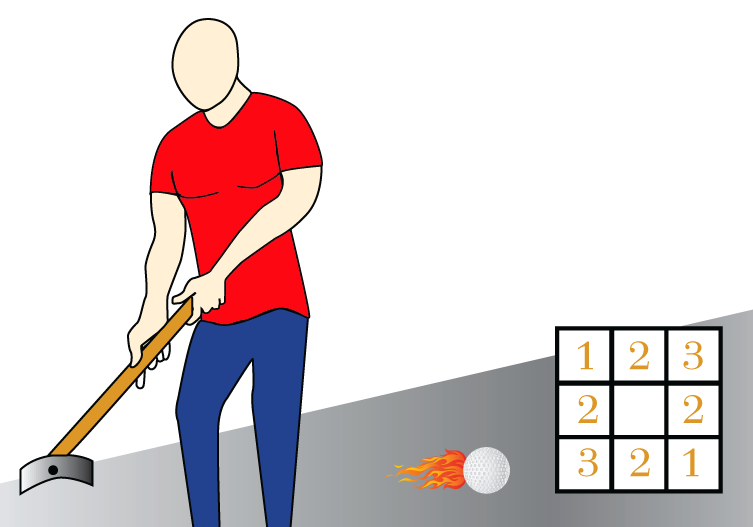 Putting Golf Square Game