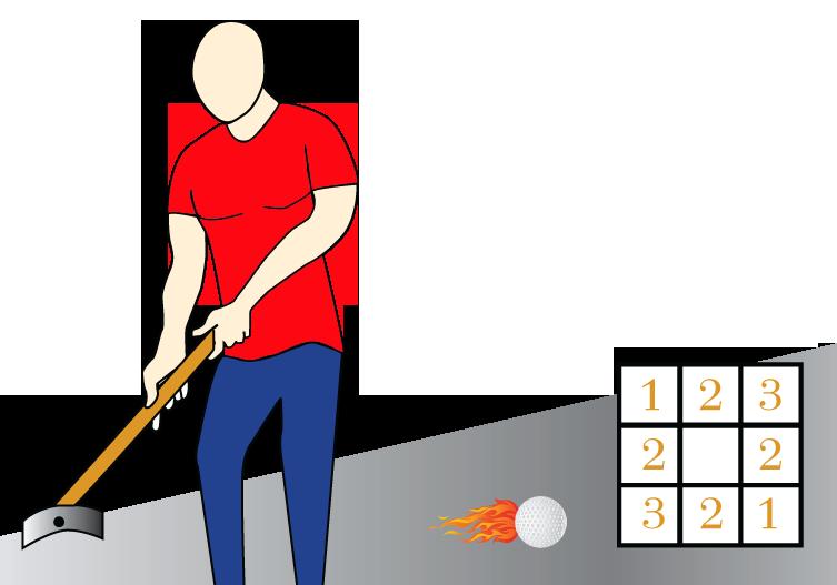 Putting Golf Square Game