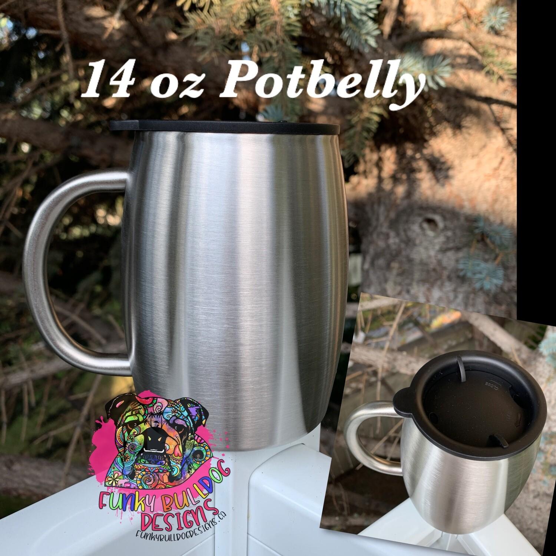 14oz Potbelly stainless steel tumbler