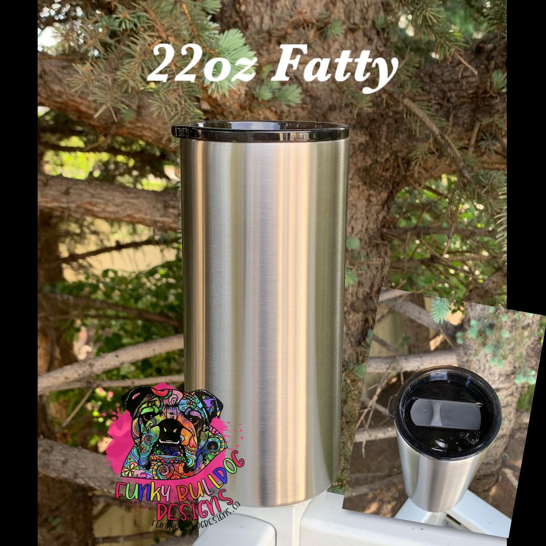 22oz Fatty stainless steel tumbler