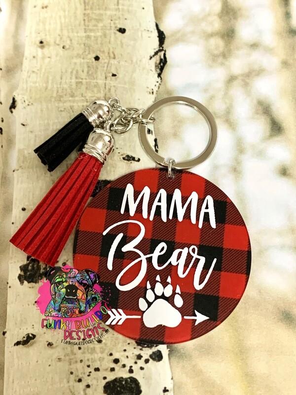 Keychain - Mama Bear Papa Bear