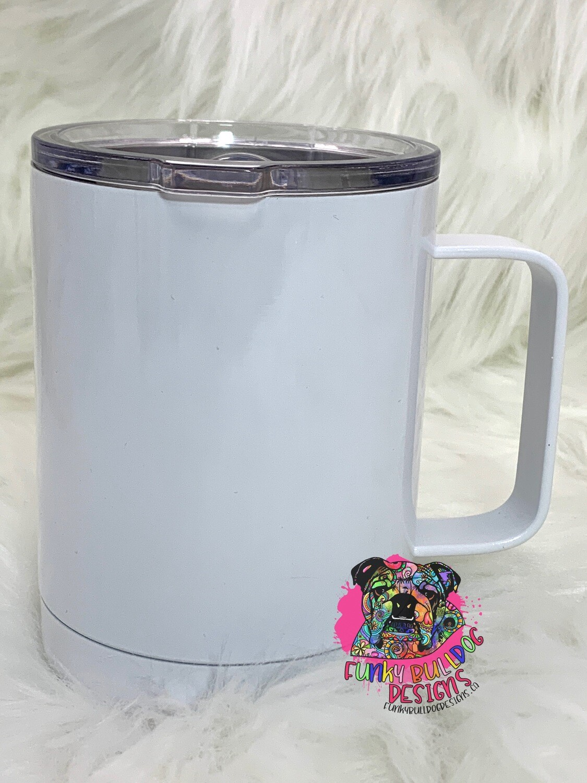 12oz White Coffee Mug with handle