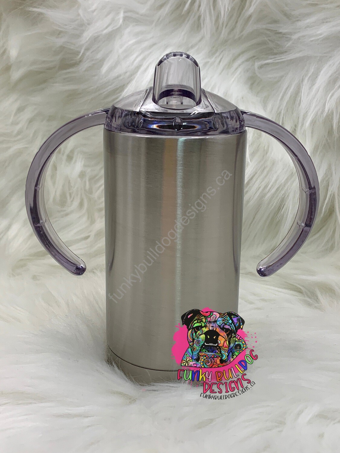 12oz stainless steel straight sippy tumbler