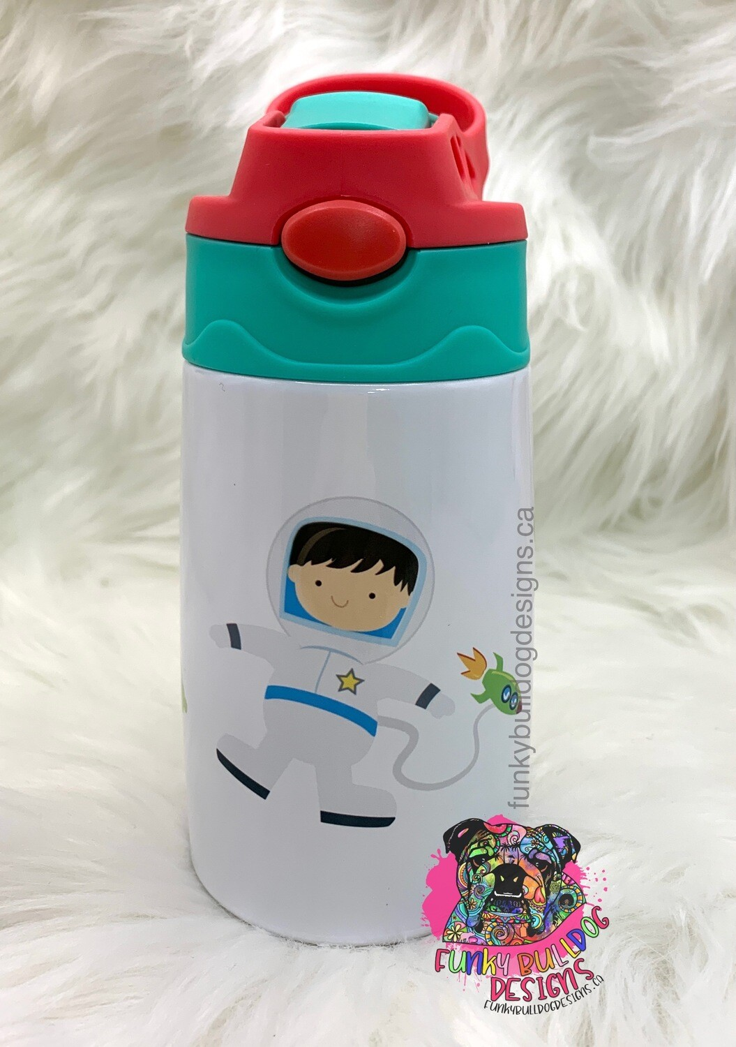 12oz stainless steel toddler tumbler with built in straw - Space design
