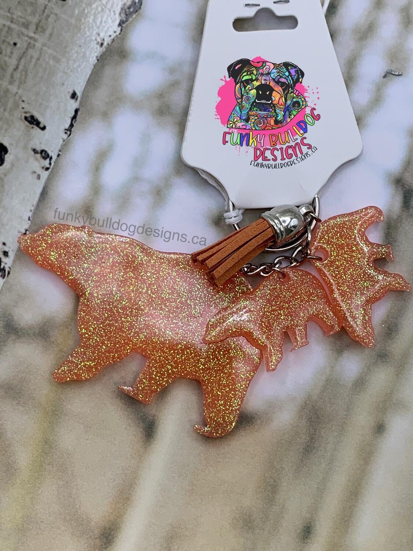 Resin Glitter Keychain - Mama Baby Bear(s)