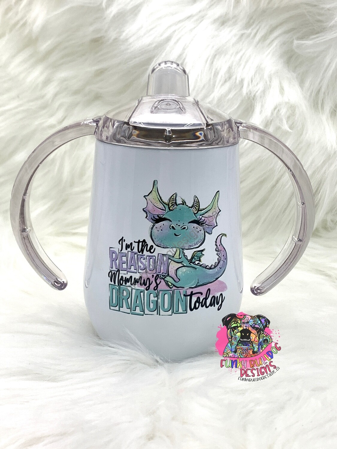 9oz stainless steel sippy cup - Dragon design