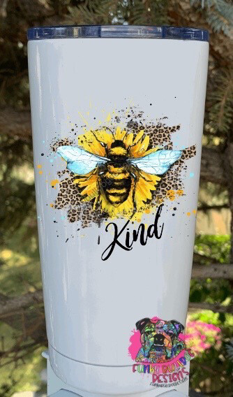 20oz Stainless Steel Tumbler (two options to choose from) - Bee Kind