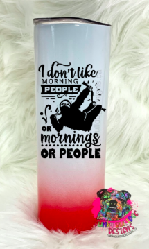 Different color options available - Sarcastic Series 20oz Stainless Steel Tumbler - Sloth - I don't like mornings