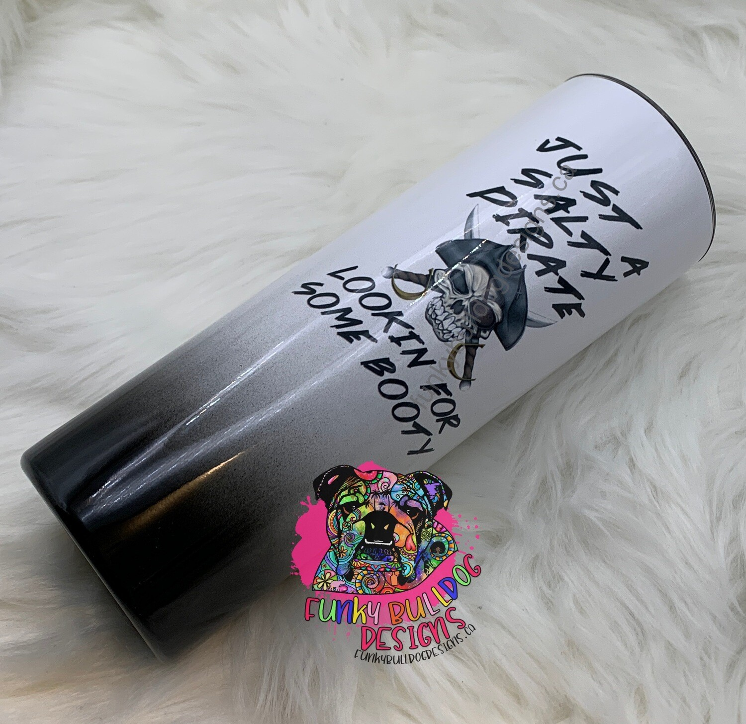 20oz stainless steel tall skinny - Pirate Camping Tumbler - Just a salty Pirate lookin for some booty