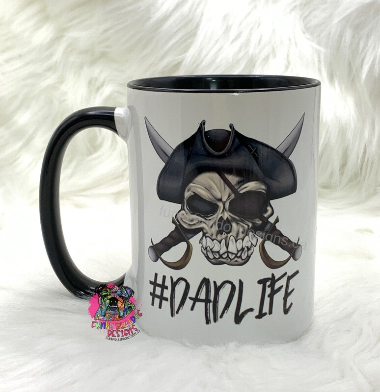 15oz Ceramic Mug (black handle) - Dad Life