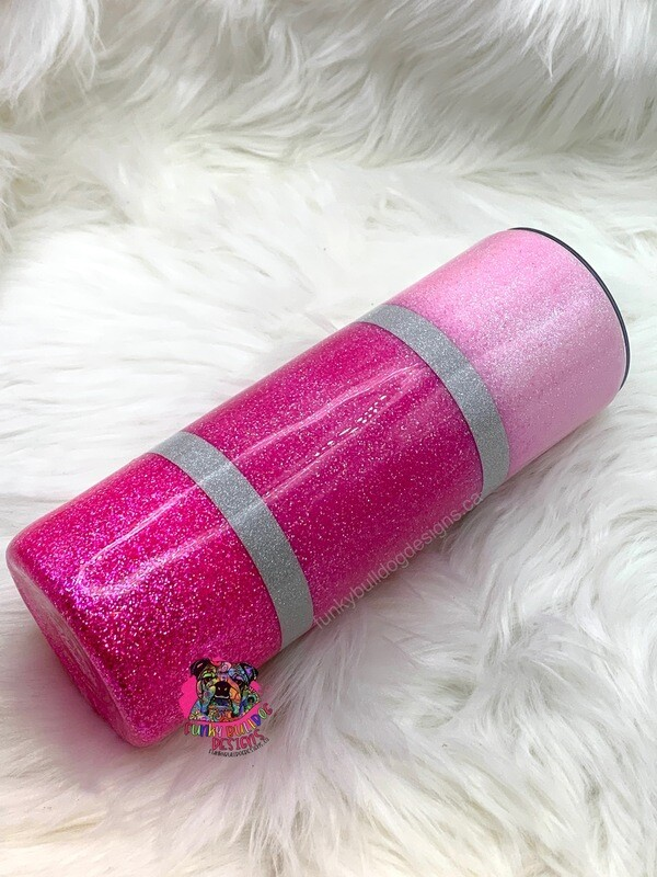 20oz stainless steel glitter tumbler - all things pink