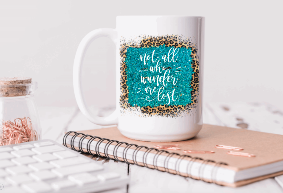 15oz Ceramic Mug - not all who wander are lost