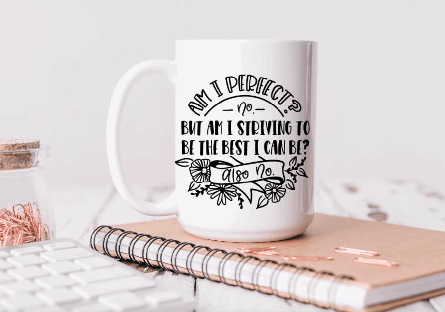 15oz Ceramic Mug - am I perfect?