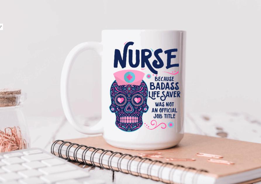 15oz Ceramic Mug - Nurse