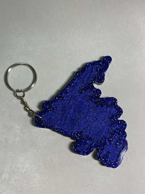 Resin Glitter Keychain - Newfoundland