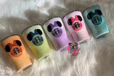 12oz stainless steel glitter Minnie Mouse Starbucks Tumbler