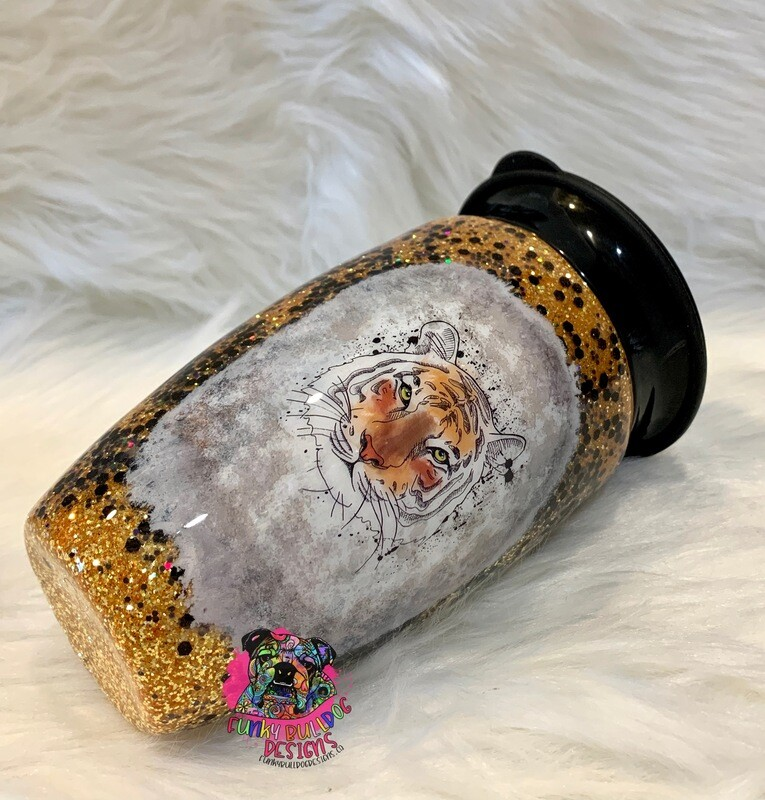 12oz 360 degree stainless steel sippy cup - Tiger theme