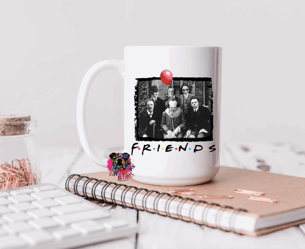 15oz Ceramic Mug - Horror Friends - Dad Design