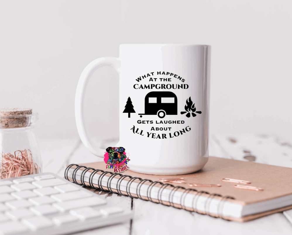 15oz Ceramic Mug - Camping - Dad Design