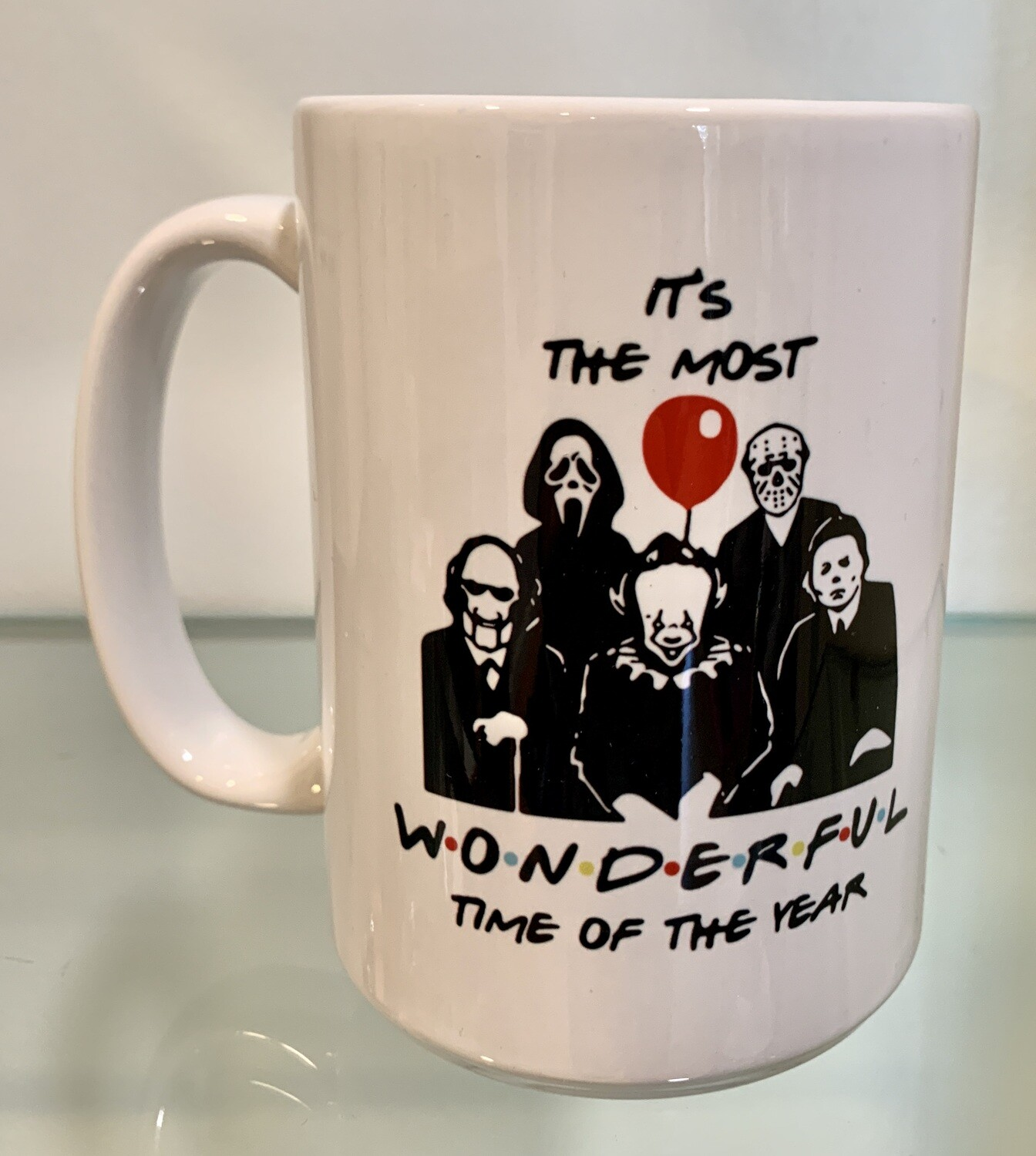 15oz Ceramic Mug - It's the most wonderful time of the year - horror design