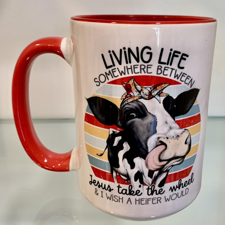 15oz Ceramic Mug - Heifer design