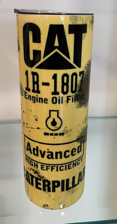 20oz Stainless Steel - CAT oil filter