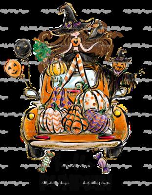 DTF (Direct to Film) Transfer - Hello Pumpkin - full color, no weeding - great for dark or light fabrics *please read entire description
