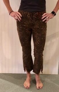 Tru Luxe T30211PM leopard flare jeans